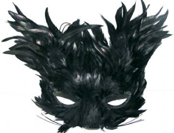 Black feather creature eye mask